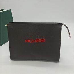 borsa in pvc verde Sconti L112 Spedizione Gratuita New Travel Toiletry Pouch 26 cm Protezione Trucco Donna Vera Pelle Impermeabile Sacchetti Cosmetici Per Le Donne M47542