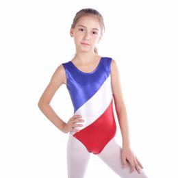 43464cc7a gymnastics ribbon dancing Coupons - Gymnastic Leotards Kids Ribbon  Sleeveless Dance Leotards for Kid Girls Training