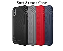 "Wholesale Wholesale Spigen - Glossy Spigen Rugged Soft Armor Case for iPhone X 5.8"" Resilient Shock Absorption and Carbon Fiber Design Cover"