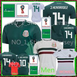 Wholesale mexico football jersey - Mexico 2018 World Cup Soccer Jersey 18 19 MEXICO J.HERNANDEZ 14 CHICHARITO 14 G.DOS SANTOS 10 A.GUARDADO 18 M.LAYUN 7 football uniforms