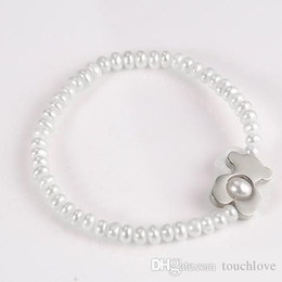 Wholesale Item Stone - TL stainless steel pearl stone beads bracelet manual work selected item excellent quality for girl & lady