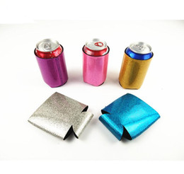 neoprene can Coupons - Glitter Neoprene Can Cooler Sleeve Can Neoprene Beverage Coolers With Bottom Beer Cup Cover Case Housekeeping Storage Organization SN666