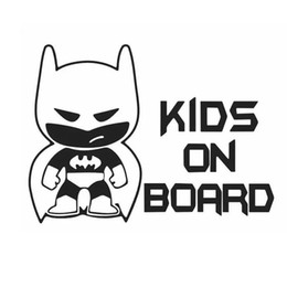 "Wholesale Batman Car Stickers - 1 Pcs Funny Batman ""Kid on Board"" Auto Vinyl Sticker Car Window Bumper Sticker Decals Car Styling Wholesale"