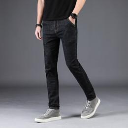 Wholesale Exclusive Jeans - 2018 New Exclusive Men Jeans Homme Slim Elastic Factory Jeans Men Straight Quality Mens Designer Pants