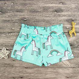 Wholesale Toddlers Panties - Ins Baby Shorts Toddler PP Pants Unicorn Shorts Bottoms PP Bloomer Panties Children Summer Casual Panties EEA433