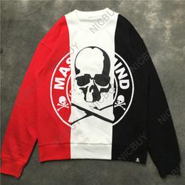 Marca de moda de lujo ropa para hombres sudaderas con capucha diseñador  mastermj japón mmj cráneo letra 3 color patchwork puntada pullover sudadera be1ba601ee3