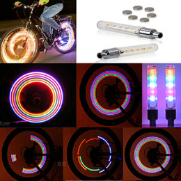 Wholesale Valve Model - 5 LED Lights Lamp 7 Flashing Model Bicycle Cycling Decor Wheel Tire Valve Cap Neon Lights PHM318P60