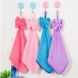 pépinière de bébé en tissu Promotion 2016 nouvelle serviette de bébé serviette de chambre à la main serviette en peluche douce bande dessinée pendaison essuyer bain 4 couleurs