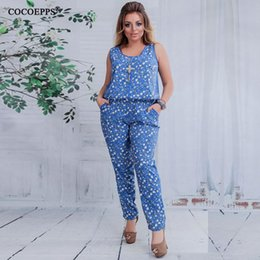 81ee1ac48958 5XL 6XL Plus Size Summer Women Jumpsuit 2018 Floral print Sleeveless Casual  Jumpsuits Rompers Female Big Size Jumpsuits Playsuit