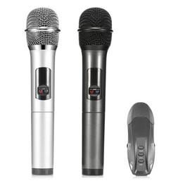 u finestre Sconti Microfono wireless UHF K18-U 2PCS Bluetooth 3.0 per iOS Microfoni portatili Windows Android Supporto per sistema Android o iOS