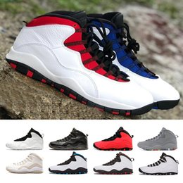 Wholesale leather powder - Cheap 10 10s Westbrook I'm Back men basketball shoes white black Steel Grey Chicago Powder Blue GS Fusion Red sports sneakers size 41-47