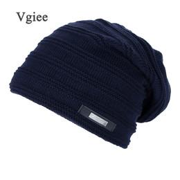 Wholesale comfortable winter hats men - Vgiee Winter Hat Beanies Knied Cap Skullies Beanies For Men Women Warm Hat Unisex gorro toucas Comfortable 2018 New
