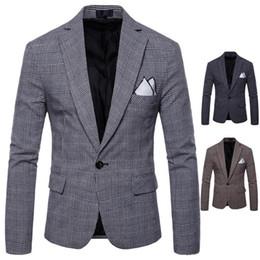 trajes de vestir de estilo masculino Rebajas NUEVO Vestido de novia para hombre Blazer de moda para hombre Estilo británico casual Slim Fit chaqueta de traje Blazers masculinos hombres abrigo Terno masculino Plus Tamaño