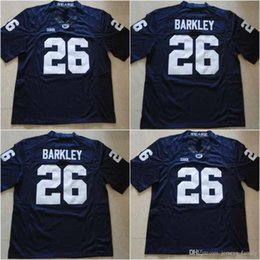 Wholesale Rugby Names - Cheap #26 Saquon Barkley #9 Trace McSorley Blue No Name Or Name On The Back Penn State Nittany Lions College Stitched Jerseys Free Shipping