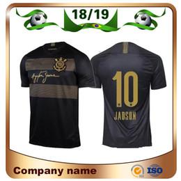 2019 camisetas de fútbol de brasil personalizados 2019 Jersey de fútbol Paulista Corintio 18 / 19Tercer de distancia # 10 JADSON Camiseta de fútbol PABLO BALBUENA ROMERO 3er Brasil Uniforme de fútbol personalizado camisetas de fútbol de brasil personalizados baratos
