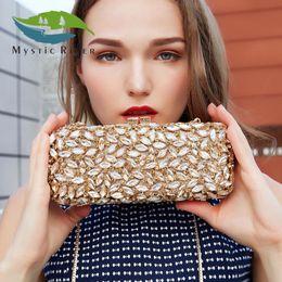 Wholesale Rivers Fashion - Mystic River Women Evening Bag Ladies Wedding Clutch Bag Female Party Crystal Bags