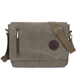 Wholesale handbag preppy style messenger bag - Fashion Shoulder Backpacks Man Women Vintage Canvas Satchel Messenger Laptop Shoulder Crossbody Sling Bag School Handbag