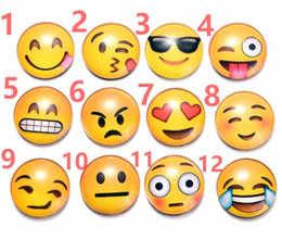 aimants super forts n52 Promotion Aimants pour réfrigérateur Emoji classique smiley visage cristal verre magnétique réfrigérateur dessin animé créatif artisanat en gros peut être personnalisé