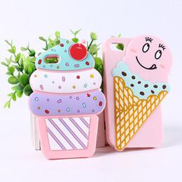 Chat de poche de dessin animé 3D bébé ours lapin crème glacée à la mode de silicone souple couverture de téléphone pour iPhone X 5S / SE / 6/7/8 / plus couverture de téléphone ? partir de fabricateur