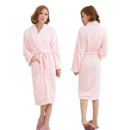 76b49e3d02 Flannel Thicken Warm Winter Shower Spa Robes Women Men Sleepwear Robe Bath  Bathrobe Sleep Nightgown Couple Dressing Gown