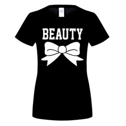 Wholesale Matches Logo - Beauty Matching Couple Shirts, His and Her T-Shirt - Couple Gifts Valentine's Day women's logo T-shirt