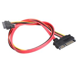 New 7+15 PIN 22P Serial ATA SATA Male to Female Data Power Extension Cable