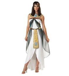 Wholesale Women Cleopatra Costume - THREE STYLES COSPLAY Princess Arabia with Headdress adult woman halloween Cleopatra costume Party Costume Stage Costume