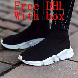 Wholesale Toe Stretching Socks - DHL Free Original quality+With box zoom slip-on Speed Trainer stretch Mercurial XI Black High help Socks shoes Casual shoes men and women