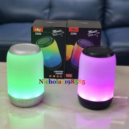 Wholesale Colorful Buttons For Sale - Nby 2260 Colorful Dazzling Flash LED Night Light Lamp Bluetooth Wireless Speaker Subwoofers Stereo Loudspeaker Also Sale CHARGE 2 3 Speakers