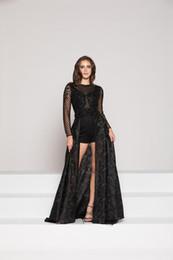 Черное короткое платье прозрачное онлайн-Платья партии сексуальные черные кружевные шорты платье съемный подвижный хвост пальто прозрачный с длинным рукавом небольшой круглый воротник подгонянный пакет