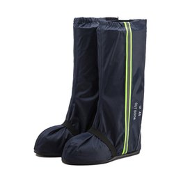 Wholesale motorcycle rain boot - Cycling RAINPROOF Fashion Motorcycle Waterproof Rain Shoes Covers Thicker Non-slip Scootor Boots Covers Adjusting Tightness