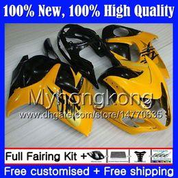 carenado gsxr amarillo Rebajas Cuerpo para SUZUKI Hayabusa GSXR1300 08 09 10 11 19MY54 GSX R1300 2008 2009 2010 2011 GSXR 1300 12 13 14 15 Fairing Bodywork Yellow black