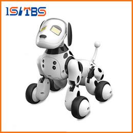 tubarões de natação de brinquedo Desconto Dimei 9007A 2.4G controle remoto sem fio inteligentes robô cão Crianças Toy inteligente falando Robot Dog Toy Presente de aniversário do animal de estimação eletrônico