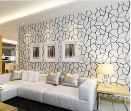 Schwarze weiße moderne tapete online-Geometrische Schwarzweiss-Vliestapete-modernes Wohnzimmer-Schlafzimmer-Studien-Restaurant-Videowand Fernsehhintergrund-Tapete 3D