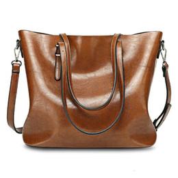 Женские сумочки онлайн-Простой Дизайн Дамы Большой Хранения Твердые Женщины Кожаная Сумка Повседневная Сумка Дешевые Большой Посланник Сумка