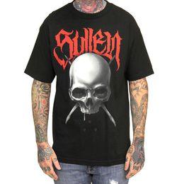 Мужские татуировки футболки онлайн-Sullen Pin Up Punk Street Bike Gothic Americana Tattoo Art Мужская футболка BELL TOLLS 2018 Новая мода футболка Марка Хип-хоп Принт Мужчины Tee