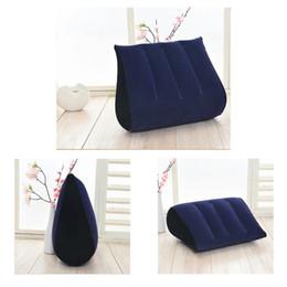 1 unid azul marino inflable Sex Pillow PVC Travel cintura almohada Magia cojín juguetes Wedge Love Position Set ZXY9087 desde fabricantes