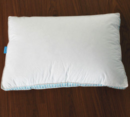 Wholesale Duck Pillows - Peter Khanun 100% Cotton Shell 300TC Enclosing Wall Rectangle Neck Pillows Filling With 15% White Duck Down Bedding Pillow 061