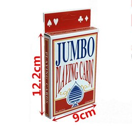 Wholesale Pub Games - High Quality Twofold Giant Playing Cards Magic Party Game School Full Cards Red Fun Pub Club Family Party Deck Gift Table Games