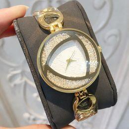 weibliche goldschmuck Rabatt 2018 Luxusmarke neue Goldfrauenuhr weibliche Art und Weisekleid-Armbanduhr voller Diamant Schmuckmädchen-Geschenk-Partei, die nette Uhrqualität shinning ist