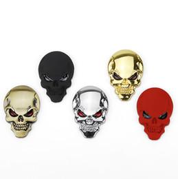 Canada (2X) autocollant emblème crâne punisseur métal 3d pour moto, jeep, camion cheap punisher skull emblem Offre