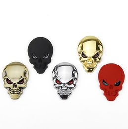 Jipe emblema on-line-(2X) 3D Metal Punisher Skull Emblem Sticker Fits Motorcycle, Jeep, & Truck