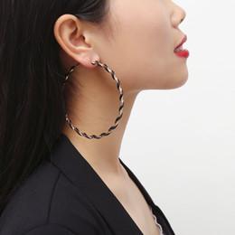 Хороший дизайн серьги онлайн-Новый простой дизайн хорошее качество большой круг круглый большой обруч серьги для женщин ювелирные изделия Серьги Brincos