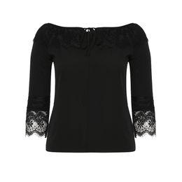 58fbec28442 Women Oversized T-Shirt Casual Black Slash Neck Patchwork Lace Flare Sleeve  Lace-Up Office Ladies Loose Plus Size Female T-Shirt affordable oversized  shirts ...