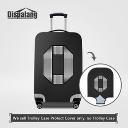 Wholesale custom suitcases - Newest Suitcase Protective Cover Apply To 18-30 Inch Case Custom Design Metal Number Spandex Quality Dustproof Elastic Trunk Luggage Covers