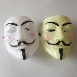 Wholesale mask v vendetta pvc - Wholesale 500pcs Halloween Mask V for Vendetta Mask Anonymous Guy Fawkes Fancy Dress Adult Costume Accessory Party Cosplay Masks