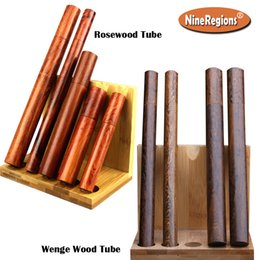 Wholesale wholesale stick pack - Wholesale Wooden tube for Stick Incense storage Vietnam Rosewood African Wenge wood barrel porta incenso packing box