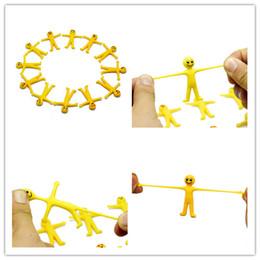 Nouveau chaud créatif doux homme jaune stretch poupée Jouets Moody Visage expression TPR matériel Modélisation doigt mignon Vent Jouet ? partir de fabricateur