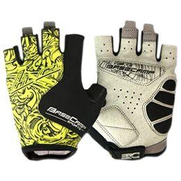 Basecamp Nylon Cycling Glove Demi-Doigt Bike Bike Gants Anti-slip Windproof Hommes Femmes Cycling Gloves (jaune) ? partir de fabricateur