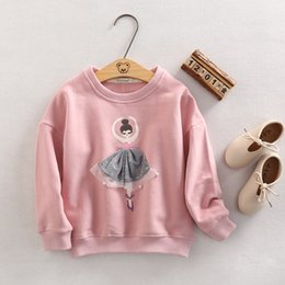 Wholesale Children Hoodies Wholesale - Girls Hoodies & Sweatshirt 2017 Autumn Girl Coat Cartoon Outwear Baby Children Clothing kids jacket Thickening There are 3 colors